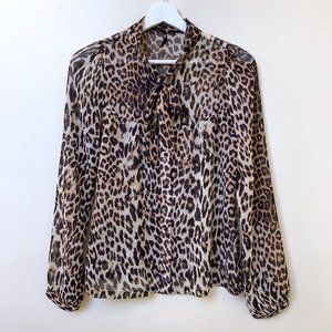 Dangerfield Leopard Print Blouse